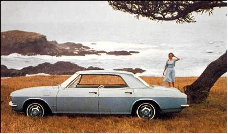 De nieuwe 1965 Corvair, de typerende 'floating roof' is verdwenen