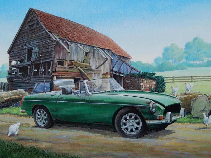 Bert Heemskerk - MGB painting