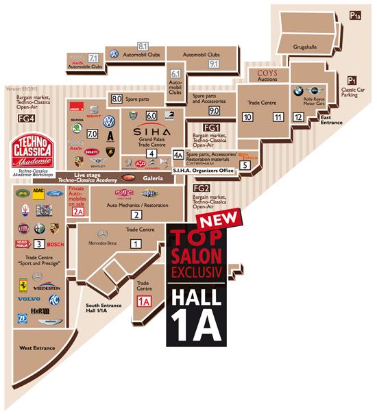 Techno Classica plattegrond 2015